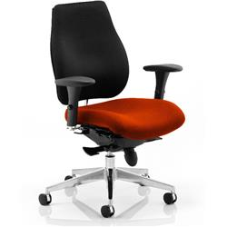 Chiro Plus Posture Chair Pimento Colour Seat With Arms Ref KCUP0156