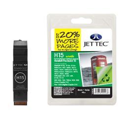 Jet Tec HP Compatible HP15 (45ml) Remanufactured Inkjet Cartridge
