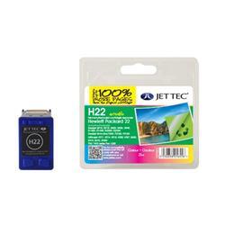 Jet Tec HP Compatible HP22/C9352AE (3x7ml) Remanufactured Colour Inkjet Cartridge
