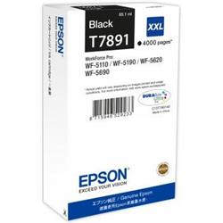 Epson T7891 XXL Black Ink Cartridge (65.1 ml) for WorkForce Pro WF-5110DW/WF-5690DWF/WF-5190DW/WF-5620DWF Inkjet Printers