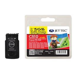 Jet Tec Canon Compatible PG-510 (12ml) Remanufactured Inkjet Cartridge