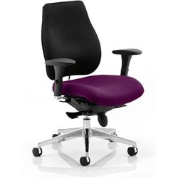 Chiro Plus Posture Chair Purple Colour Seat With Arms Ref KCUP0160