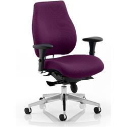 Chiro Plus Posture Chair Purple Colour With Arms Ref KCUP0152