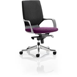 Xenon Executive Chair Black Medium Back Purple Colour Seat With Arms Ref KCUP0640