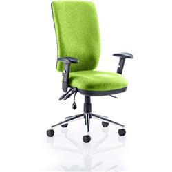Chiro Task Operator Chair High Back Swizzle Colour With Arms Ref KCUP0098