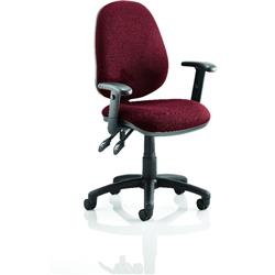 Luna II Lever Task Operator Chair Chilli Colour With Height Adjustable Arms Ref KCUP0933