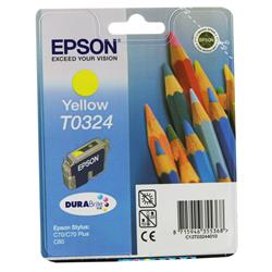 Epson T0324 Yellow DURABrite Inkjet Cartridge (Pencils) Stylus C70/C80 Ref C13T03244010