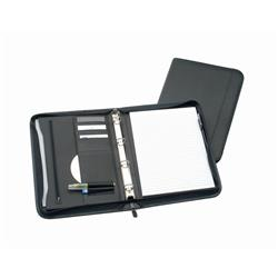 5 Star Office Zipped Conference 4 Ring Binder Capacity 25mm W254xH360mm A4 Black