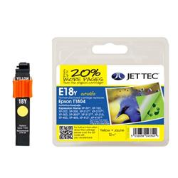 Jet Tec Epson Compatible T1804 (12ml) Manufactured Inkjet Cartridge