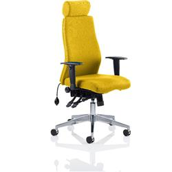 Onyx Posture Chair Sunset Colour With Headrest With Arms Ref KCUP0437