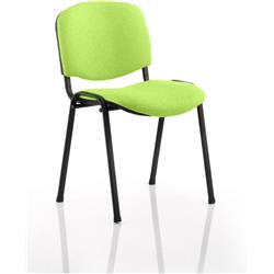 ISO Stacking Chair Swizzle Colour Fabric Black Frame Without Arms Ref KCUP0306