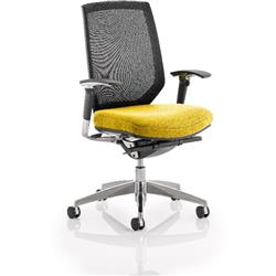 Midas Task Operator Chair Sunset Colour Seat With Arms Ref KCUP0413