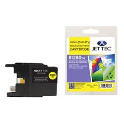 Jet Tec Brother Compatible LC1280YXL (13.5ml) Remanufactured Inkjet Cartridge