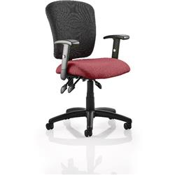 Toledo Task Operator Chair Chilli Colour Seat With Arms Ref KCUP0590