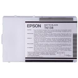 Epson T6138 Matte Black Ultrachrome Ink Cartridge (110ml) for SP4400/4450