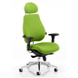 Chiro Plus Posture Chair Ultimate With Headrest Swizzle Colour With Arms Ref KCUP0170
