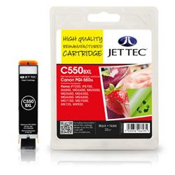 Jet Tec Canon Compatible PGI-550XL (22ml) Remanufactured Inkjet Cartridge