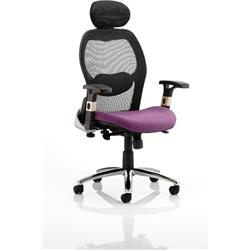 Sanderson Executive Chair Purple Colour Seat With Arms Ref KCUP0544