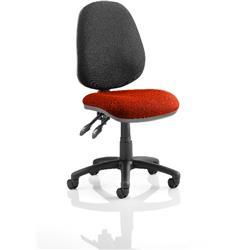 Luna II Task Operator Chair Pimento Colour Seat Without Arms Ref KCUP0348