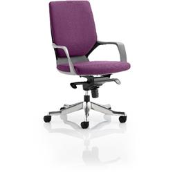Xenon Executive Chair Black Medium Aubergine Back Purple Colour With Arms Ref KCUP0632