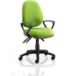 Luna III Lever Task Operator Chair Swizzle Colour With Loop Arms Ref KCUP0962