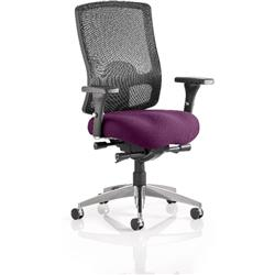 Regent Task Operator Chair Purple Colour Seat With Arms Ref KCUP0504