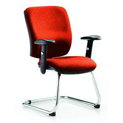 Chiro Task Operator Chair Medium Cantilever Pimento Colour With Arms Ref KCUP0132