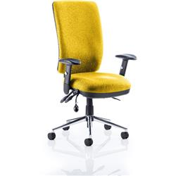Chiro Task Operator Chair High Back Sunset Colour With Arms Ref KCUP0101