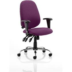 Lisbon Task Operator Chair Purple Colour With Arms Ref KCUP0336