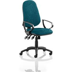 Eclipse XL III Lever Task Operator Chair Kingfisher Colour With Loop Arms Ref KCUP0902