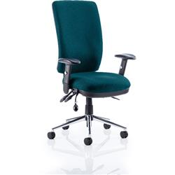 Chiro Task Operator Chair High Back Kingfisher Colour With Arms Ref KCUP0103