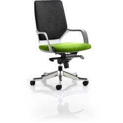Xenon Executive Chair White Medium Back Swizzle Colour Seat With Arms Ref KCUP0618