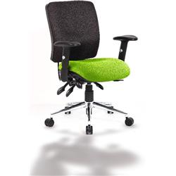 Chiro Task Operator Chair Medium Back Swizzle Colour Seat With Arms Ref KCUP0122