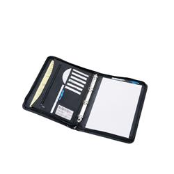 5 Star Office Zipped Conference Ring Binder Capacity 30mm A4 Leather Look Black
