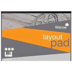 Silvine Layout Pad Bank Paper Acid Free 50gsm 80 Sheets A3