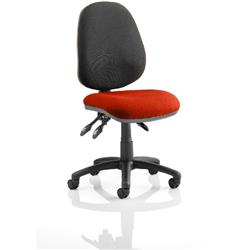 Luna III Lever Task Operator Chair Pimento Colour Seat Without Arms Ref KCUP0364