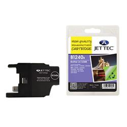 Jet Tec Brother Compatible LC1240BK (13.9ml) Remanufactured Inkjet Cartridge