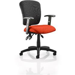 Toledo Task Operator Chair Pimento Colour Seat With Arms Ref KCUP0588