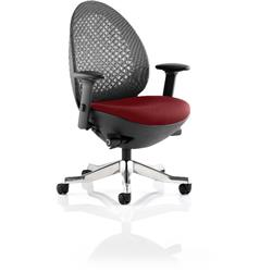 Revo Task Operator Chair Chilli Colour Seat With Arms Ref KCUP0718