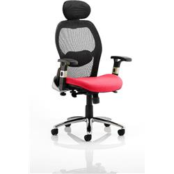 Sanderson Executive Chair Cherry Colour Seat With Arms Ref KCUP0537
