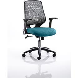 Relay Task Operator Chair Kingfisher Colour Silver Back With Arms Ref KCUP0519