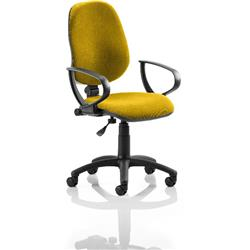 Eclipse I Lever Task Operator Chair Sunset Colour With Loop Arms Ref KCUP0808