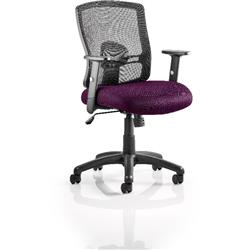 Portland Task Operator Chair Purple Colour Seat With Arms Ref KCUP0480