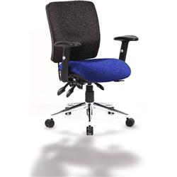 Chiro Task Operator Chair Medium Back Serene Colour Seat With Arms Ref KCUP0123
