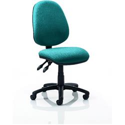 Luna II Task Operator Chair Kingfisher Colour Without Arms Ref KCUP0343