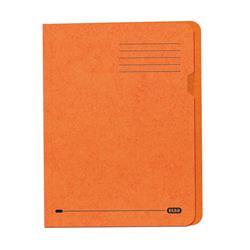 Elba Square Cut Folder Recycled Lightweight 180gsm A4 Orange Ref 100090205 - Pack 100