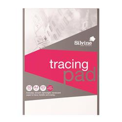 Silvine Tracing Pad Acid Free Paper 63gsm 50 Sheets A4