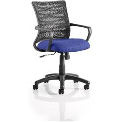 Vortex Task Operator Chair Serene Colour Seat Fabric With Arms Ref KCUP0603