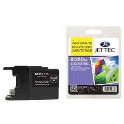 Jet Tec Brother Compatible LC1280BKXL (55ml) Remanufactured Inkjet Cartridge