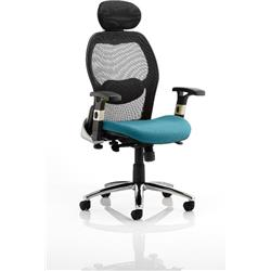 Sanderson Executive Chair Kingfisher Colour Seat With Arms Ref KCUP0543